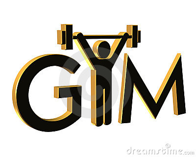 Gym Fitness Logo 3D isolated