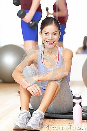 Gym fitness woman happy