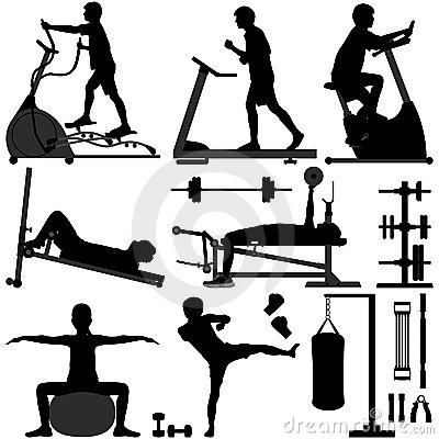 Free Gym Gymnasium Workout Exercise Man Stock Photo - 19293070