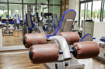 Gym hall equipment for workout