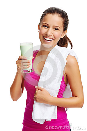 Free Gym Shake Woman Stock Image - 31576691