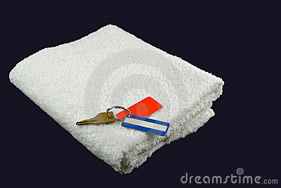Gym towel with keys