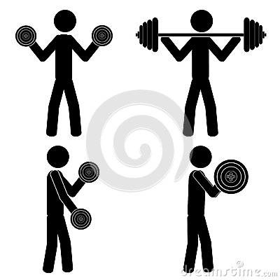 gym weight stock vector image 43661938
