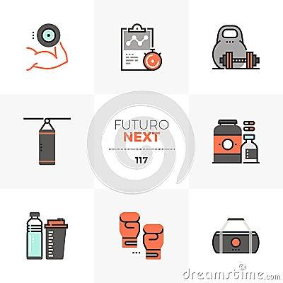 Free Gym Workout Futuro Next Icons Royalty Free Stock Photography - 122002467