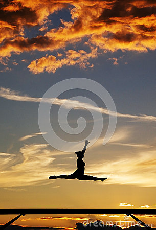 Gymnast On Balance Beam Royalty Free Stock Photography - Image: 28107187