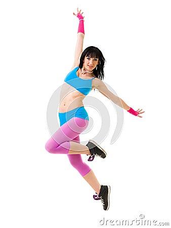 Gymnast girl dancing