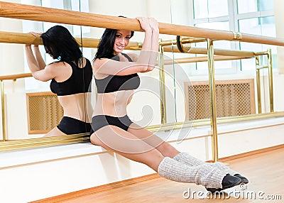 Gymnast girl posing