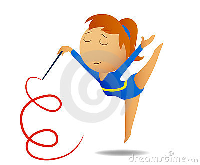 Gymnast Girl With Ribbon Royalty Free Stock Images - Image: 15967739