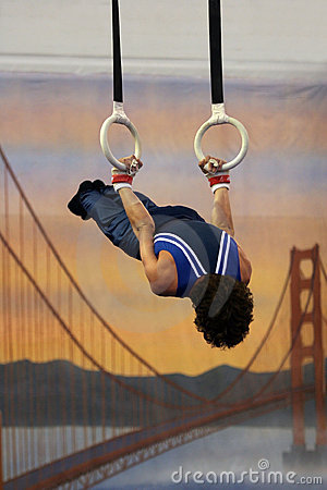 Gymnast on rings