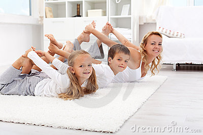 Gymnastic exercises at home
