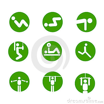 Free Gymnastic Exercises Symbols Stock Images - 10616254