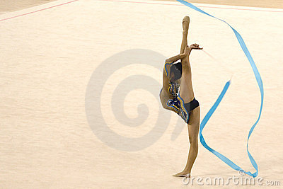 Gymnastics Action Editorial Stock Photo