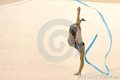 Gymnastics Action Editorial Stock Photo