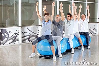 Gymnastics class for seniors
