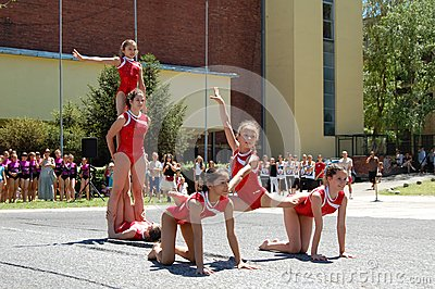 Gymnastics event in Novi Sad Editorial Stock Photo