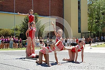 Gymnastics event in Novi Sad Editorial Stock Photo