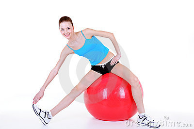 Gymnastics with fitball