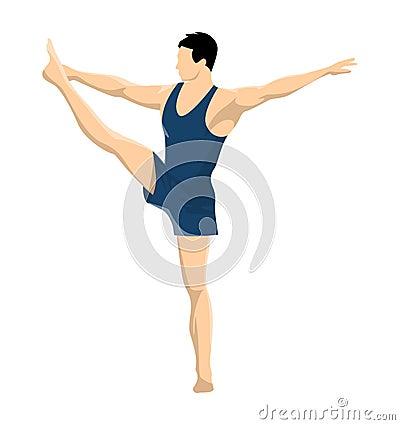 Gymnastics with men. Vector Illustration