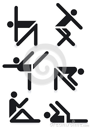 Gymnastics pictograms