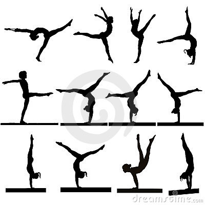 Stock Photos Gymnastics Silhouettes Image16622273 on design management