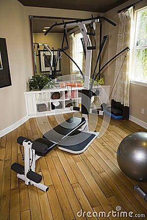Gymnastique à la maison de luxe