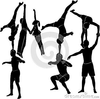 Free Gymnasts Acrobats Representation Stock Photo - 41530440