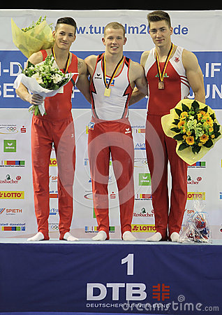 Gymnasts with medals. Editorial Photography