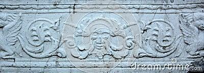 Gypsum bas-relief