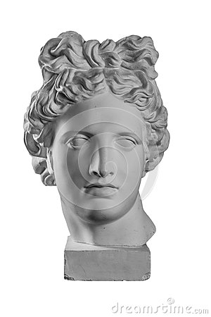 Free Gypsum Statue Of Apollo`s Head Royalty Free Stock Images - 85362679