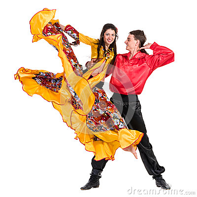 Free Gypsy Flamenco Dancer Couple Stock Images - 51887044