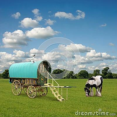 Free Gypsy Wagon, Caravan Stock Photography - 18890302
