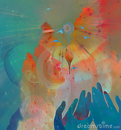 Hände und Himmel