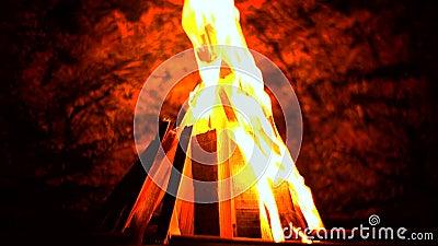 härlig brand lager videofilmer