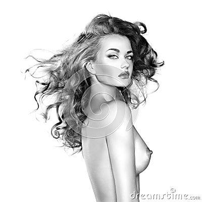 Härlig naken kvinna