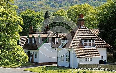 Häuser im englischen Dorf