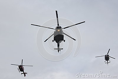 Hélicoptères Image éditorial