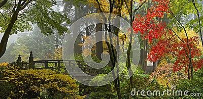 h lzerne br cke am japanischen garten im herbst lizenzfreie stockfotos bild 16805358. Black Bedroom Furniture Sets. Home Design Ideas