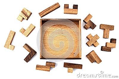 Hölzernes Puzzlespiel