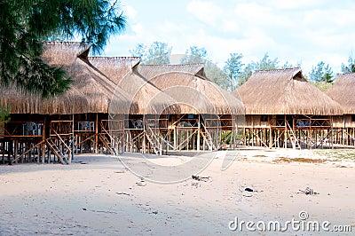 Hütten in Mosambik