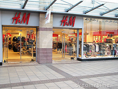 H&M store Editorial Stock Image