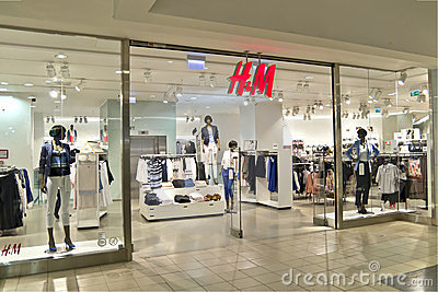 H&M Store Editorial Photography
