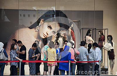 H&M store opening in Kuala Lumpur Malaysia Editorial Image