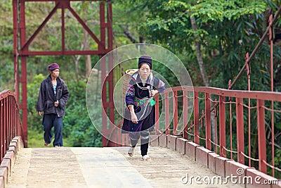 H Mong Ehtnic Minority People of Vietnam Editorial Stock Image