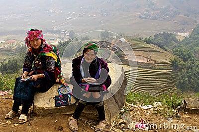 H Mong Ehtnic Minority People of Vietnam Editorial Stock Photo