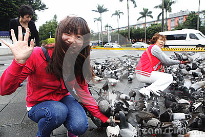 H7N9 threat in Taiwan Editorial Photography