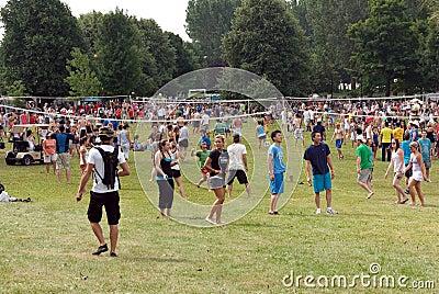 H.O.P.E Volleyball tournament in Ottawa Editorial Stock Image