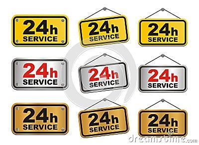 24h service sign