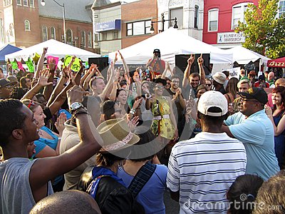 H Street Party Editorial Stock Image