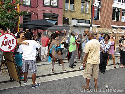 H Street in September Editorial Photo