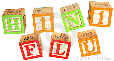 H1N1 Flu in Alphabet Blocks